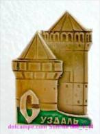 Set Russia And Soviet Towns 6: Suzdal - Kremlin - Tower / Soviet Badge USSR _068_1_14_t3894 - Cities