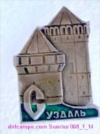Set Russia And Soviet Towns 6: Suzdal - Kremlin - Tower / Soviet Badge USSR _068_1_14_t3905 - Cities