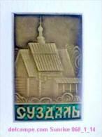 Set Russia And Soviet Towns 6: Suzdal - Kremlin - Wooden Church / Soviet Badge USSR _068_1_14_t3886 - Cities