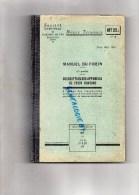 SNCF- SUPERBE NOTICE TECHNIQUE CHEMINS DE FER  GARE -MANUEL DU FREIN CONTINU- MARS 1950 - Railway & Tramway