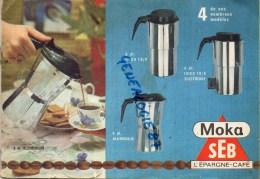 21 - SELONGEY - CATALOGUE PUBLICITAIRE SEB- MOKA SUPER COCOTTE CAFETIERE ALUMINIUM- CAFE - Publicités