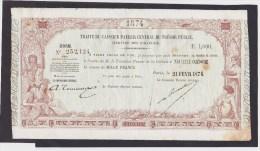 Tres Rare Traite De 1 000 Francs De Nouvelle Caledonie Du 21 Frevier 1874 !!! - Nouvelle-Calédonie 1873-1985