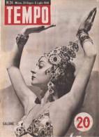 TEMPO Rivista 24 1946 - Salomè - Fine Savoia - Voor 1900