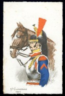 Cpa  Militaria  7ème Cuirassiers  1807  Illustrateur Pierre Albert Leroux    A3RK11 - Personaggi