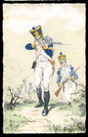 Cpa  Militaria  (2)  Illustrateur Monogramme ER    A3RK11 - Personaggi