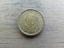 Allemagne  10 Reichpfennig  1931 A   Km40 - [ 3] 1918-1933 : Weimar Republic