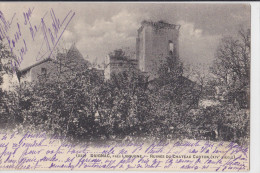 DAIGNAC(33)écrite-ruines Du Chateau Curton-dos Simple