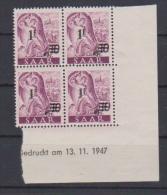 SARRE //  Coin Daté //  N # 218  //  Neuf**  //  13/11/47 - Saar
