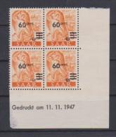 SARRE //  Coin Daté //  N # 217  //  Neuf**  //  11/11/47 - Saar
