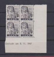 SARRE //  Coin Daté //  N # 216  //  Neuf**  //  8/11/47 - Saar