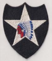 "WWII écusson Patch ""2nd Infantry Division"" USA - Stoffabzeichen"
