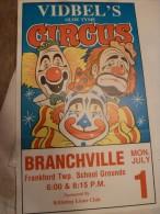 Circus Cirque Circo Zirkus Affiche Circo Vidbel Usa - Affiches