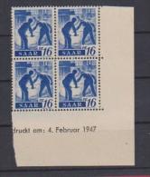 SARRE //  Coin Daté // 16 Pf  //  N # 203  //  Neuf**  //  04/02/1947 - Saar