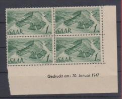 SARRE // Coin Daté // N 215  // 1 Mark Vert //  NEUFS **  //  3/01/1947 - Saar