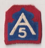 "WWII écusson Patch ""5th Army"" USA - Stoffabzeichen"