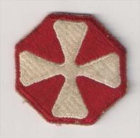 "WWII écusson Patch ""8th Army"" USA - Stoffabzeichen"