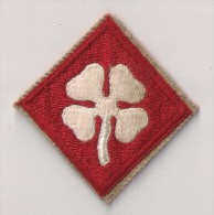 "WWII écusson Patch ""4th Army"" USA - Stoffabzeichen"