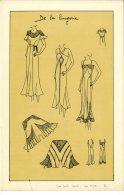 MODE  -  LES IDEES DE PARIS  -  SUR FOND TEINTE VERS 1930 - Vintage Clothes & Linen