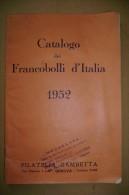 PCA/17 Catalogo FRANCOBOLLI D´ITALIA 1952 Catalogazione Dal Sassone - Italia