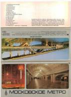 Vieux Papiers -   Images - Pochette Avec 18 Fiches - Métro De Moscou - Mockobckoe Metro - Logo Jeux Olympiques - Old Paper