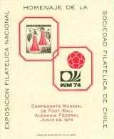 FUSSBALL-FOOTBALL-SOCCER- CALCIO, Chile, 1974, Gedenkblatt / Commemorative Sheet !! - Coppa Del Mondo