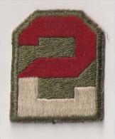 "WWII écusson Patch ""2nd Army"" USA - Stoffabzeichen"