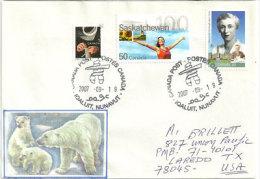Lettre De Iqaluit, Territoire Arctique Canadien Du Nunavut, Adressée Aux Etats-Unis - Polarmarken