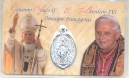 GIOVANNI PAOLO II ET BENEDETTO XVI OVUNQUE PROTEGGETECI S.S. VERGINE A.S. CATERINA LABOURE ANNO 1830 - Italy