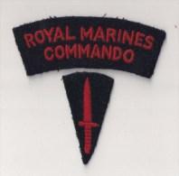 """WWII écusson Patch Great Britain """"royal Marine Commando"""" - Stoffabzeichen"""