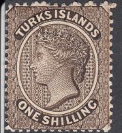 Turks Islands  1887  1s  SG60   MH - Turks And Caicos
