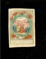 Image Religieuse Parchemin Aquarelle Fin XIII, A Paris Chez Crepy Rue St Pierre...l´esprit Saint - Vieux Papiers