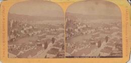 Photo Stéréoscopique Luzern Lucerne Et Le Rigi 1894 Photo A. Gabler Interlaken - Photos Stéréoscopiques