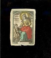 Image Religieuse Parchemin Aquarelle Fin XVIII  /  Ste Jeanne - Old Paper