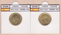 SPANIEN   1 PESETA  1.975 #78  Aluminium-Bronze  KM#806   Stempelglanz  T-DL-9366 Austri. - [5] 1949-…: Monarchie