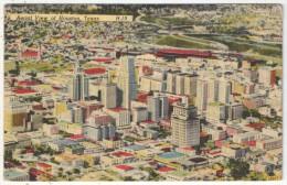 Aerial View Of HOUSTON, Texas - 1948 - Houston