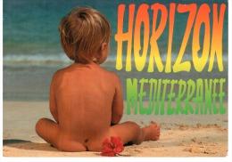 CPM HORIZON ENFANT NU PLAGE MEDITERRANEE  FORMAT 12 PAR 17 CM - Scènes & Paysages