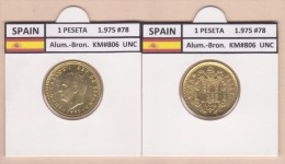 SPANJE   1 PESETA  1.975 #78  Aluminium-Bronze  KM#806   Uncirculated  T-DL-9366 Holan. - [ 5] 1949-… : Koninkrijk