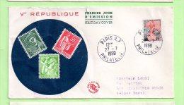 1° Jour, Yvert N° 1216 - 1950-1959