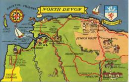 MAP - COLOURMASTER - NORTH DEVON  PT1499 - Maps