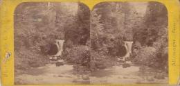 Photo Stéréoscopique, Cascade Geroldsau, Vue Prise Du Pont, Baden Baden Allemagne (grand Duché De Bade) - Photos Stéréoscopiques