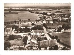 CPA : 18 - Saint Loup Des Chaumes : Vue Générale Aérienne : Maisons - église - Campagne Avoisinante - Other Municipalities