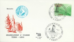 MONCALVO (AT) - CELEBRAZIONE 5° VIAGGIO TERRA LUNA- BOLLO SPEC. 1-8-71 - Spazio