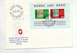 Lettre Fdc  Berne Bloc Nabra 1965 - FDC