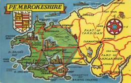 MAP - COLOURMASTER - PEMBROKESHIRE PT27134 - Maps