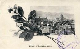 Cachet Militaire  404éme De Mitrailleurs écrite De GUNSBACH 1918 Sur Cpa COLMAR - Militaria