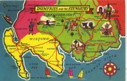 MAP - COLOURMASTER - DUMFRIES AND THE STEWARTRY PT36132 - Landkaarten