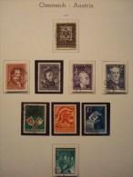 AUTRICHE ANNEE 1950 . 784/792  OBLITERES - Annate Complete