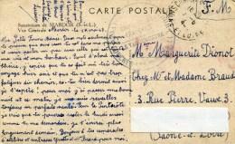 Cachet Militaire? COUCHES(Saone Et Loire)Mardor Croix Rouge194?sur Cpa Mardor - Militaria