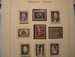AUTRICHE ANNEE 1952 . 809/817  OBLITERES - Annate Complete