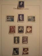AUTRICHE ANNEE 1953 . 818/828  OBLITERES - Annate Complete